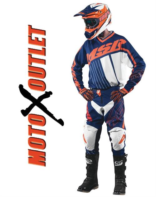 MSR Orange Blue Axxis Motocross gear Package