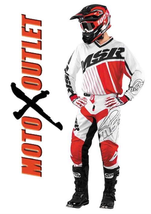 msr axxis red motocross gear package