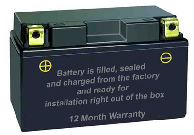 factory sealed battery