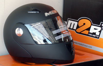 m2r 901 flip up helmet matte black