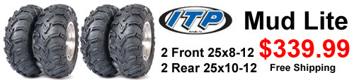 Itp mud lite sale 25x8-12 25x10-12